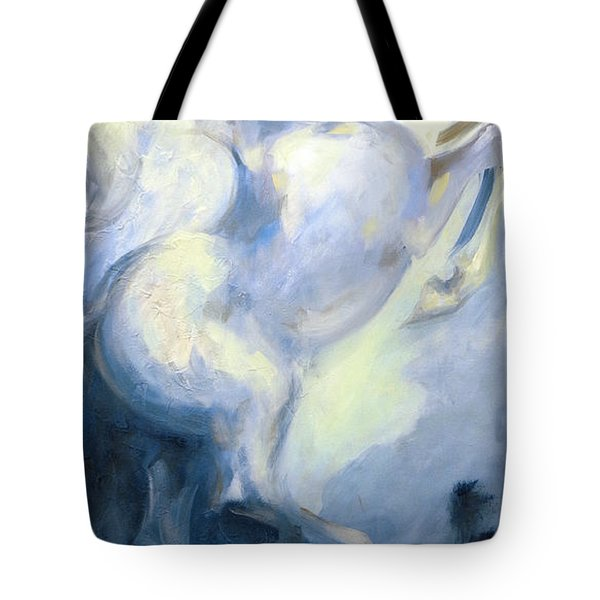 Blue Circus Pony 1 Tote Bag by Dina Dargo