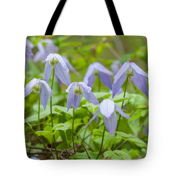 Tote Bag featuring the photograph Blue Clematis by Fran Riley