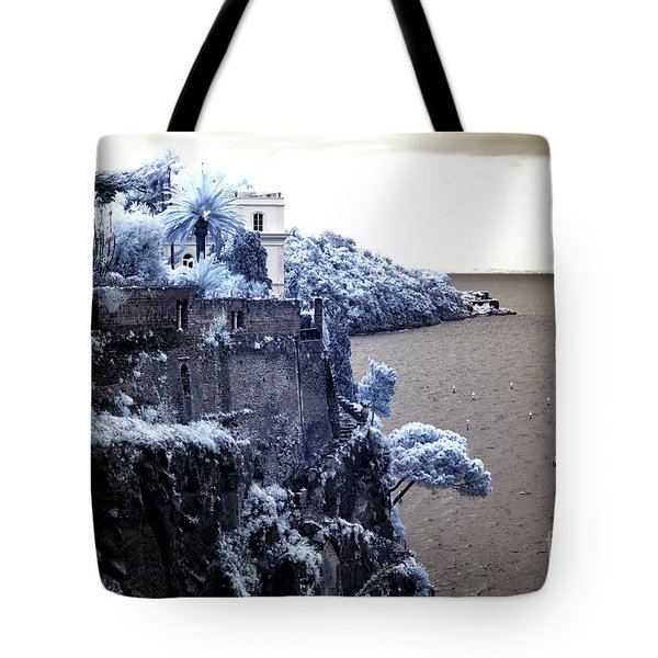 Blue Cliff In Sorrento Tote Bag