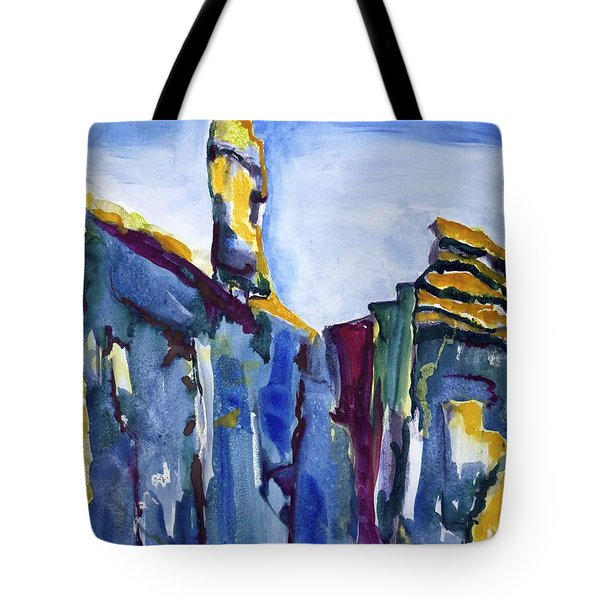 Blue Cliffs, Sea And Sky Tote Bag