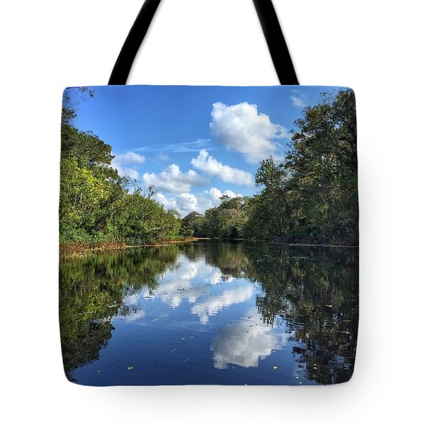 Blue Cloud Reflections  Tote Bag