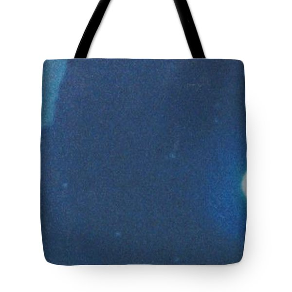Blue Cloudy Moon Tote Bag