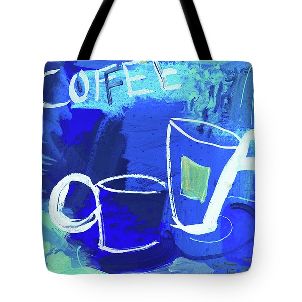 Blue Coffee Tote Bag