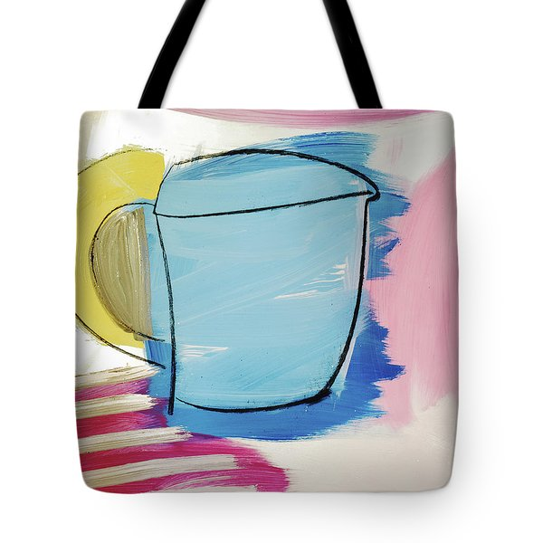 Blue Coffee Mug Tote Bag