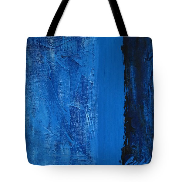 Tote Bag featuring the painting Blue Collar by Rick Baldwin