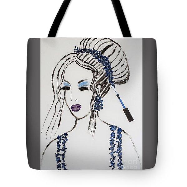 Blue Color Fan Tote Bag