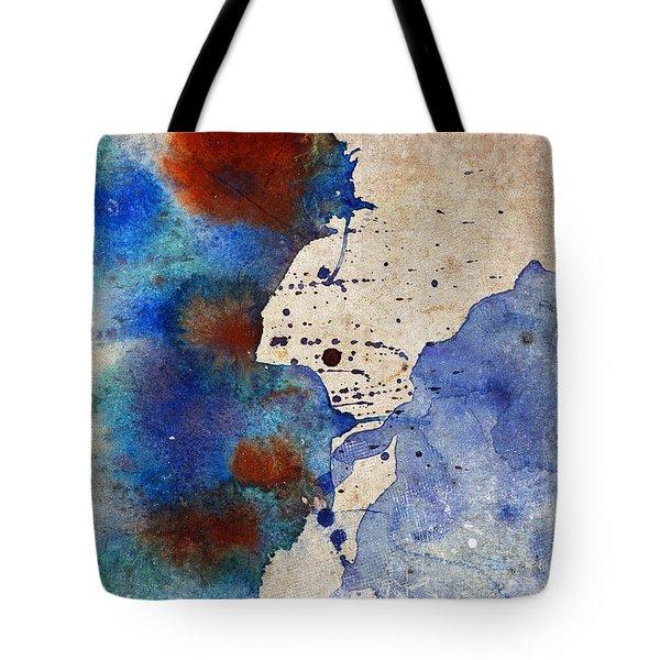 Blue Color Splash Tote Bag