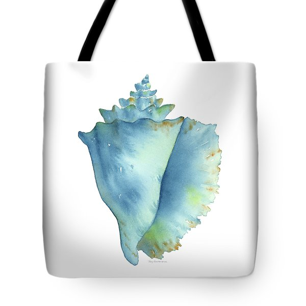 Blue Conch Shell Tote Bag