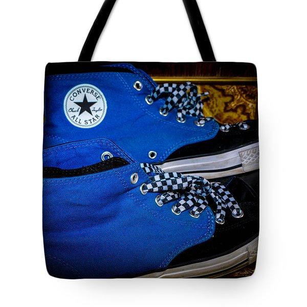 Blue Converse All Stars Tote Bag