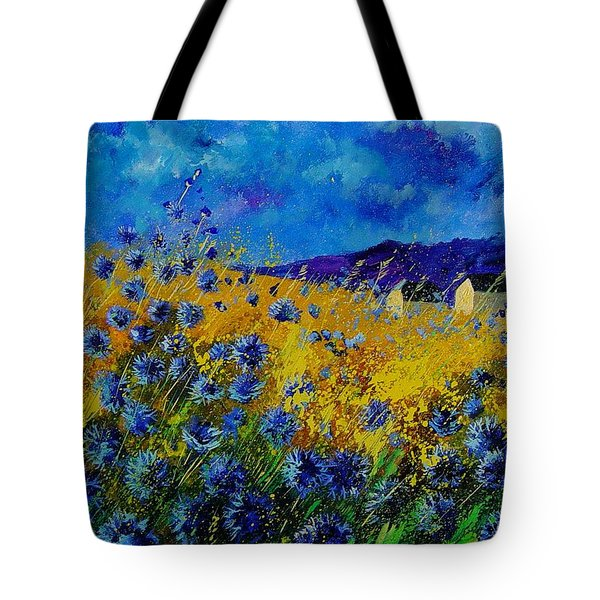 Blue Cornflowers Tote Bag by Pol Ledent
