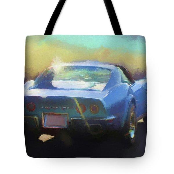Blue Corvette Tote Bag