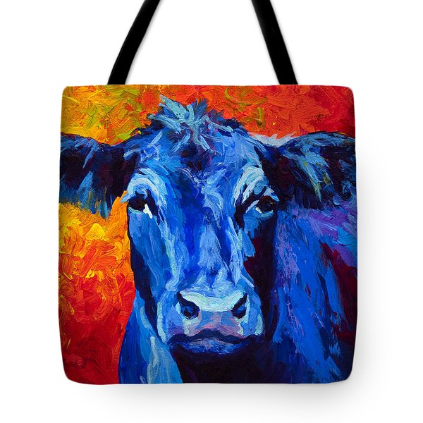 Blue Cow II Tote Bag