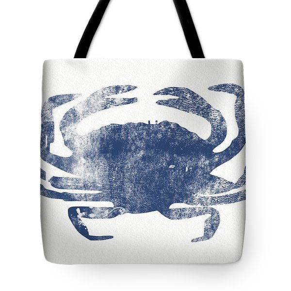 Blue Crab- Art By Linda Woods Tote Bag by Linda Woods