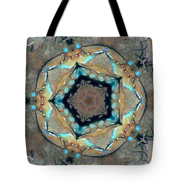 Blue Crab Kaleidoscope Tote Bag by Bill Barber