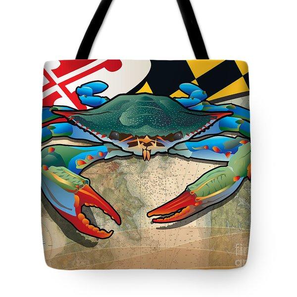 Blue Crab Of Maryland Tote Bag