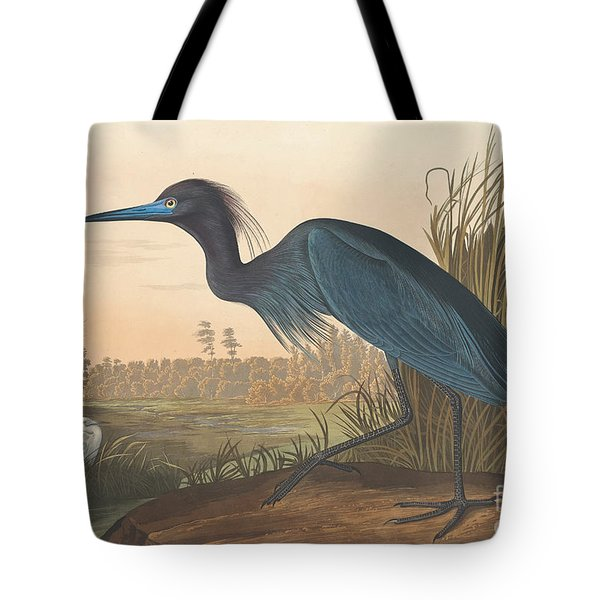Blue Crane Or Heron Tote Bag