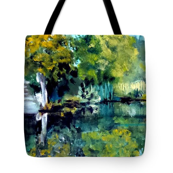 Blue Creek Fish Camp Tote Bag