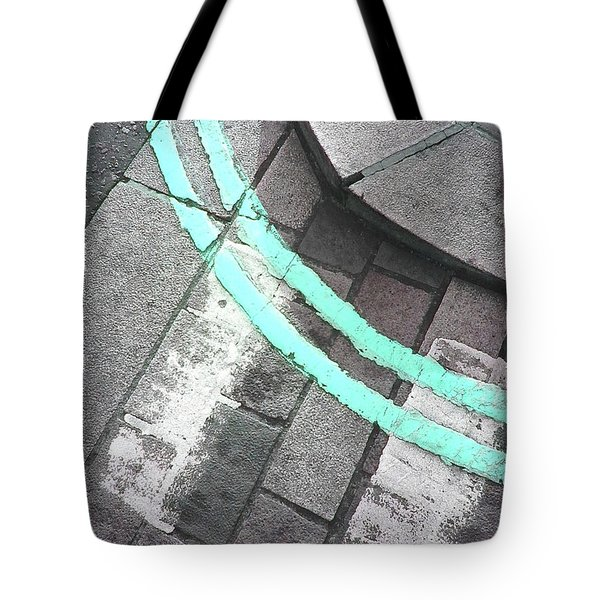 Tote Bag featuring the photograph Blue Curb by Rebecca Harman