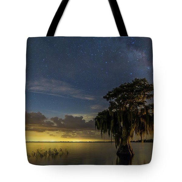 Blue Cypress Lake Nightsky Tote Bag
