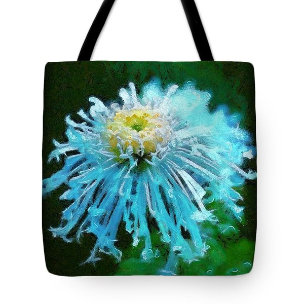 Blue Dahlia Tote Bag