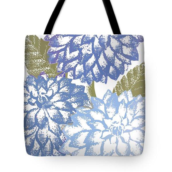 Blue Dahlias Tote Bag