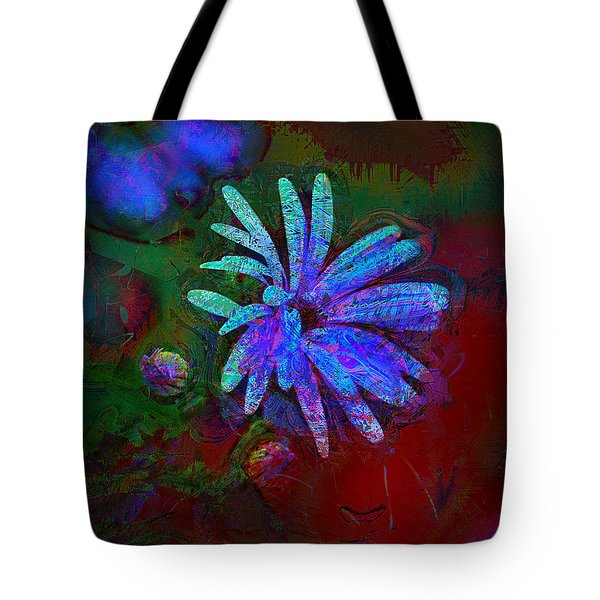 Tote Bag featuring the photograph Blue Daisy by Lori Seaman