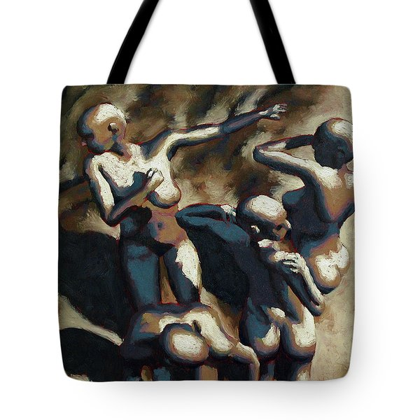 Blue Dancers Tote Bag by Leo Mazzeo