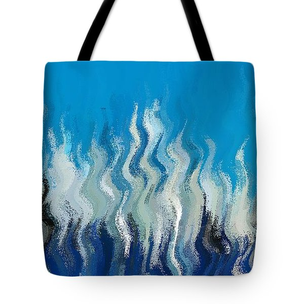 Tote Bag featuring the digital art Blue Mist by David Manlove
