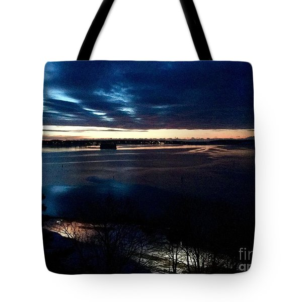 Blue Dawn On Casco Bay Tote Bag