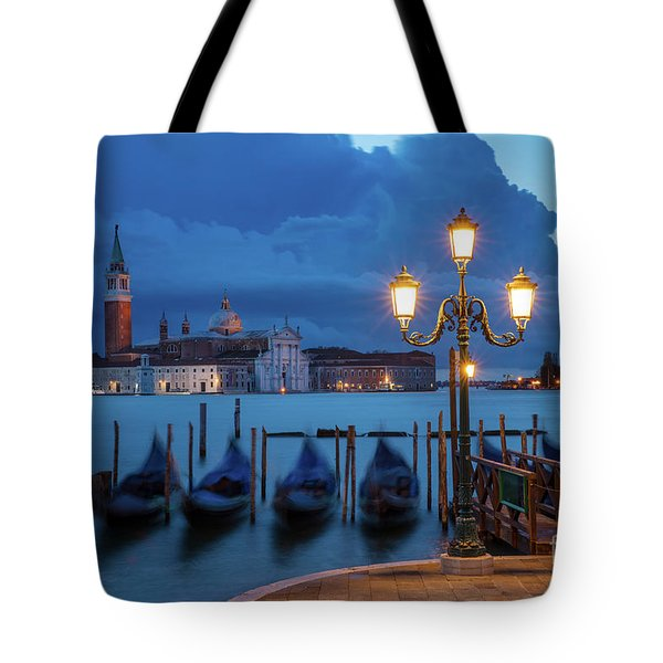 Tote Bag featuring the photograph Blue Dawn Over Venice by Brian Jannsen