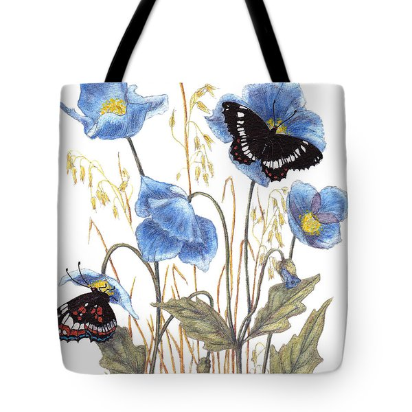 Blue-day Butterfly Tote Bag