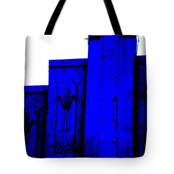 Blue Deco Tote Bag