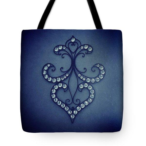 Blue Diamond Tote Bag