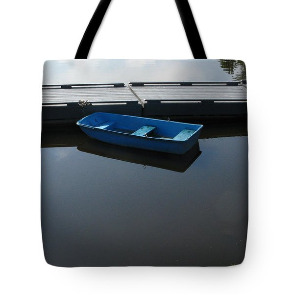 Blue Dinghy Quiet Waters Tote Bag