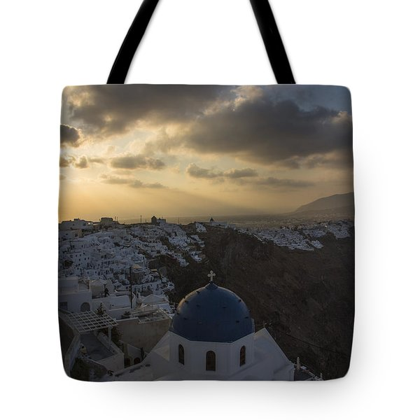 Blue Dome - Santorini Tote Bag