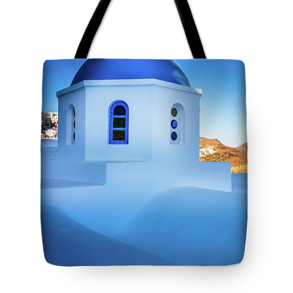Blue Domed Chapel Tote Bag