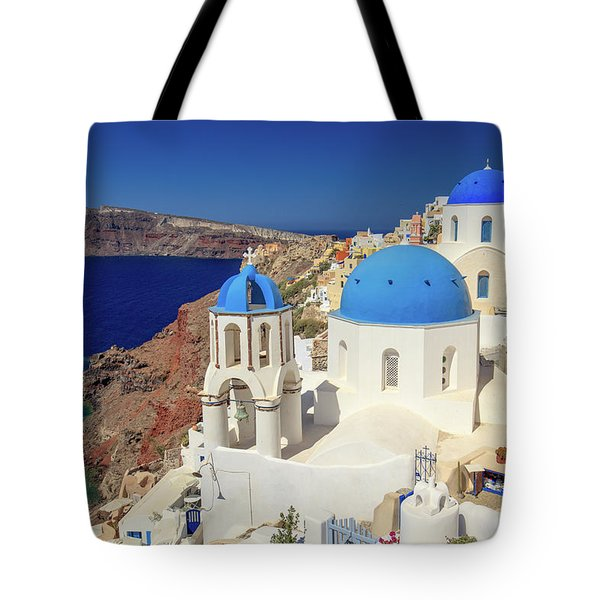 Blue Domed Churches Tote Bag