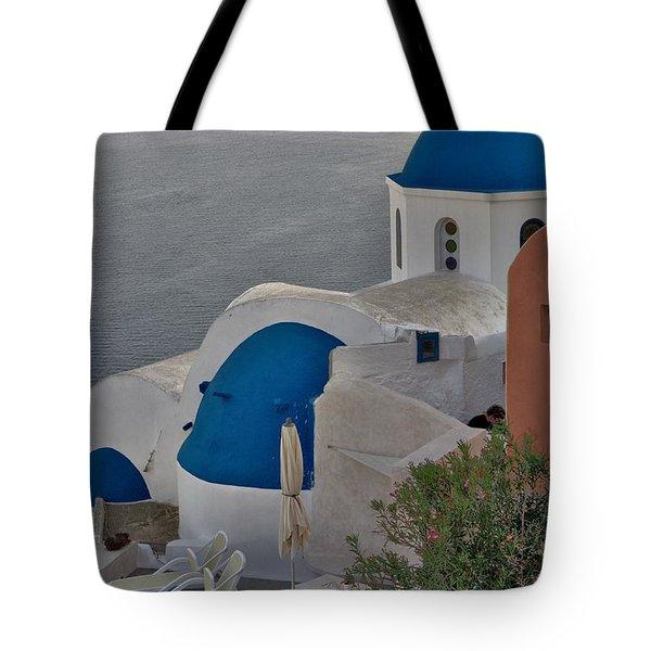 Blue Domes Tote Bag