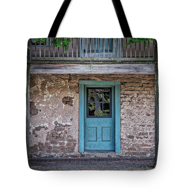 Blue Door Tote Bag by Jerry Golab
