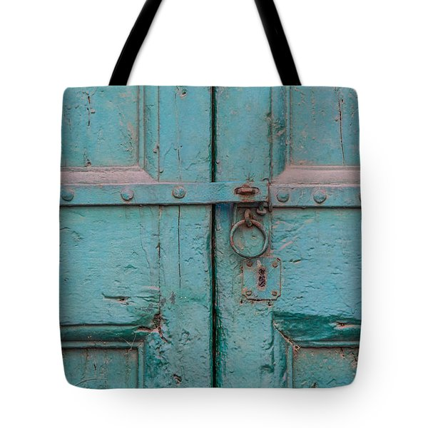 Tote Bag featuring the photograph Blue Door Of Cortona by David Letts