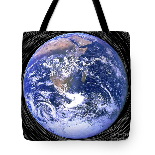 Blue Dot Black Hole Tote Bag