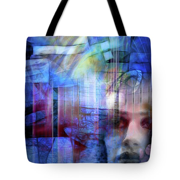 Blue Drama Vision Tote Bag