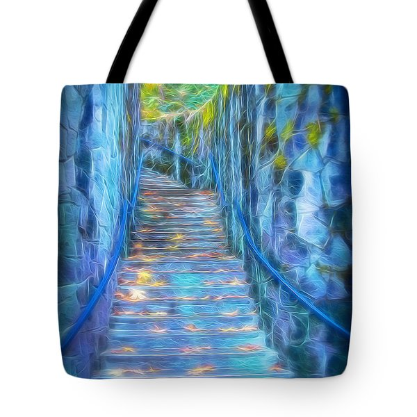 Blue Dream Stairway Tote Bag