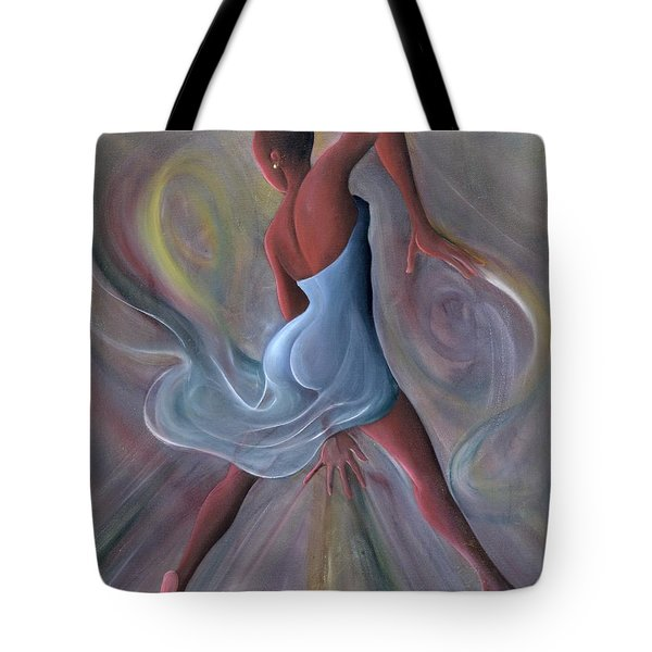 Blue Dress Tote Bag