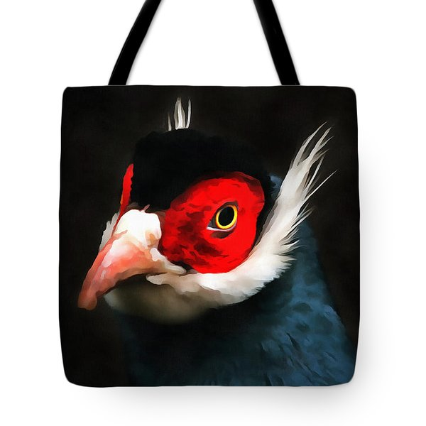 Blue Eared Pheasant Tote Bag