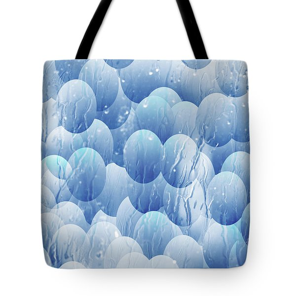Tote Bag featuring the photograph Blue Eggs - Abstract Background by Michal Boubin