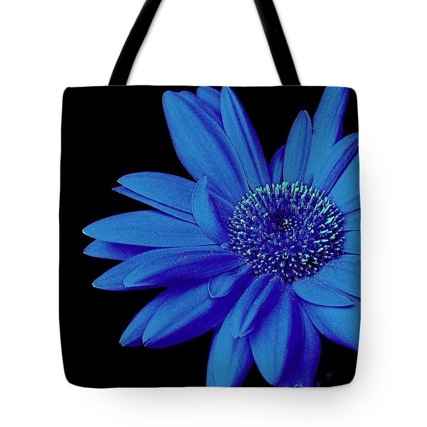 Blue Tote Bag by Elfriede Fulda