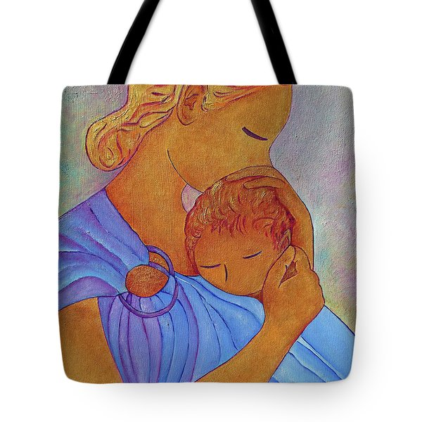 Blue Embrace Tote Bag by Gioia Albano