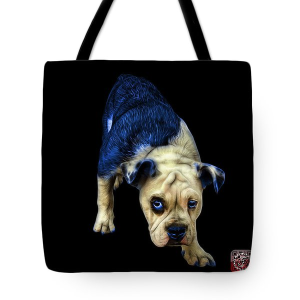 Blue English Bulldog Dog Art - 1368 - Bb Tote Bag