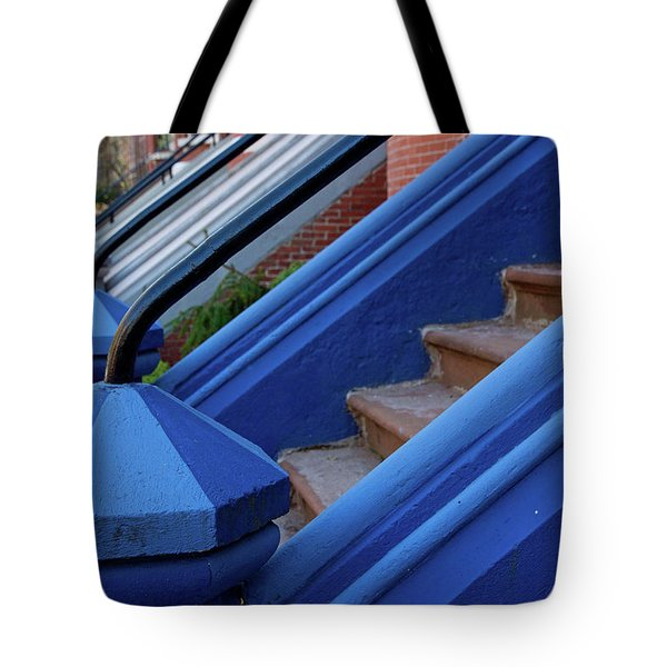 Blue Entry Tote Bag